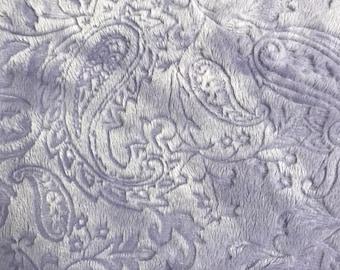 29 x 34 lavender/lilac minky baby blanket