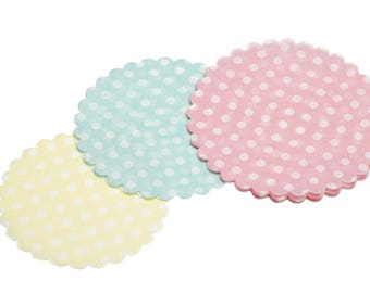 Set of 30 mini Kitchen Craft - assorted paper doilies