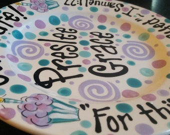 Family Special Day or Birthday Plate - Colorful Personalized 10 Inch Ceramic Special Day Plate