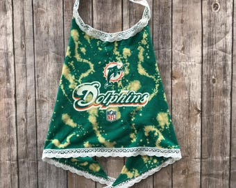 Miami DolphinsLace Halter Top