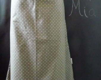 A-line SKIRT - Heather Bailey - Lottie Dot in Charcoal - Made in ANY Size - Boutique Mia