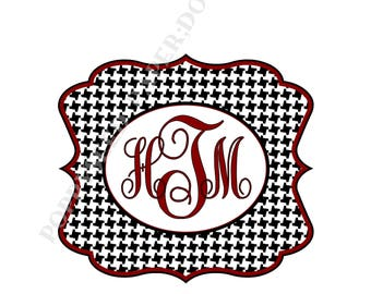 Houndstooth notecards, Personalized folded note cards- Thank You Notes- Personalized note cards, Roll Tide stationery