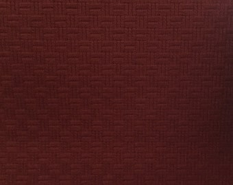 Rusty Red Basket Weave - Upholstery Fabric by the Yard