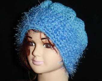 beret and blue sparkly very warm