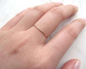 Ultra thin gold ring, 14k gold fill ring, hammered gold ring, gold stacking ring, band ring, dainty ring, delicate gold ring ,minimalist