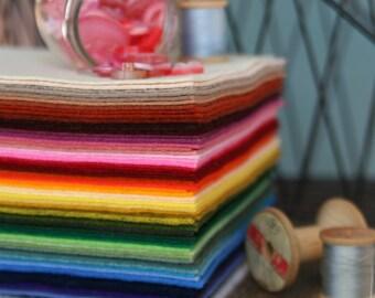 Four Yards of Benzie's Wool Blend Felt // Merino Wool, Wool Blend Felt, DIY Craft Supply, Wool Felt Fabric, Felt Yardage, Wool Yardage
