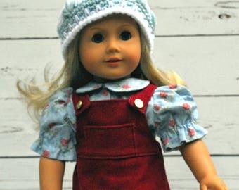 """18"""" Doll Hat, AG Crochet Hat, Winter Hat, American Girl Doll, Doll Hat, AG Matching Hat, Crochet Doll Hat, Hidden Hearts Hat, Winter Beanie"""