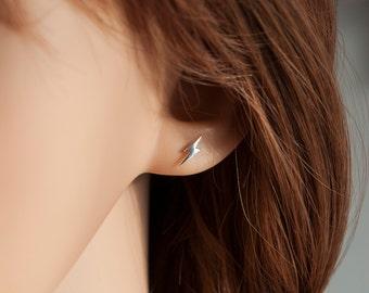 Thunderbolt Ear Studs, Harry Potter Earrings, Sterling Silver Earrings, Lightening Earrings