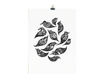 Star Birds - Limited Edition A2 Screenprint