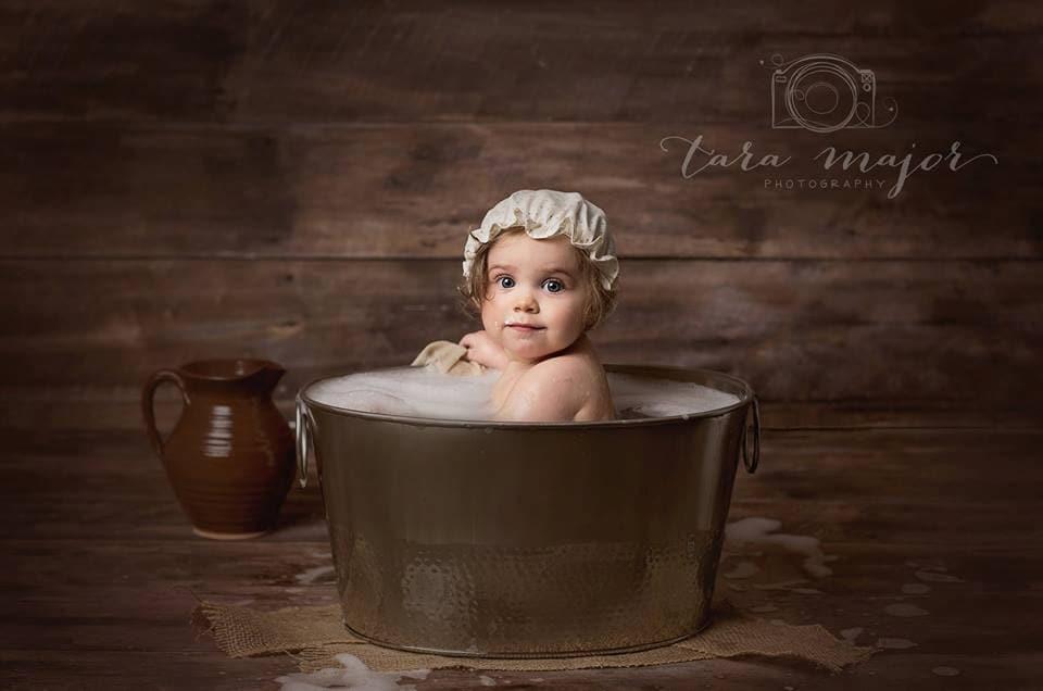 Shower Cap Bonnet Baby Children Photography Prop Retro