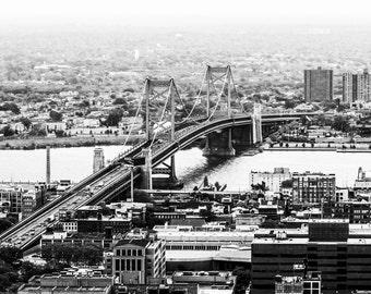 Ben Franklin Bridge Philadelphia Aerial Photo