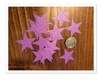 Purple star confetti / purple glitter / purple glitter confetti / star confetti / twinkle little star confetti / purple / glitter