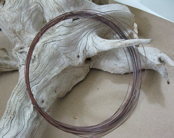 20 Gauge SOLID COPPER WIRE, Bright or Hand Oxidized, 10 ft to 50 ft, Ready to Ship!