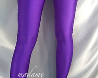 Footed spandex leggings / tights Purple