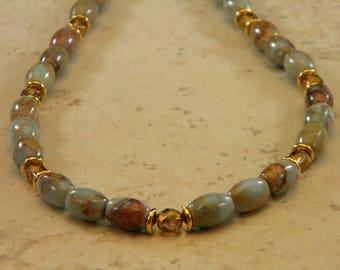 Impression Jasper OOAK Beaded Necklace