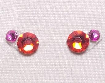 Light Red & Hot Pink Eye Candies ATS Tribal Fusion Bindi - 00123