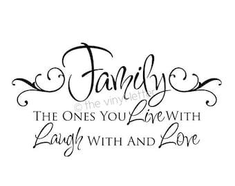 Family Live Laugh Love Vinyl Wall Decor Decal Sticker