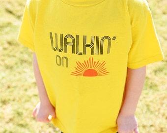 Walking on Sunshine Toddler Boy/Girl Shirt - Toddler Boy/Girl tshirt Sunshine - Walkin on Sunshine Baby Boy/Girl Bodysuit - graphic t lyrics