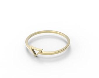 Pyramid Ring - Geometric Jewelry - Minimalistic