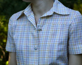 Vintage Handmade Short Sleeve Button Dress