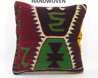kilim pillow cover decorative pillow turkish pillow case bench cushion cover boho couch pillow case vintage decoration home design 000251
