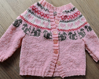 baby cardigan hand made knitting yarn BB merino / alpaca