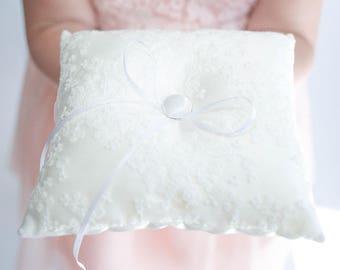 Ring Bearer Pillow | Ring Pillow | Lace Ring Pillow | White Ring Pillow | Vintage Wedding