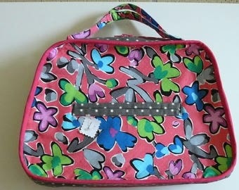 multicolored bowling bag