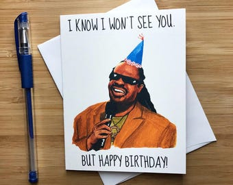 Funny Stevie Birthday Card, Funny Birthday Card, Inappropriate Humor, Musician Gift, Internet Meme, Naughty Birthday Humor, Bday Card