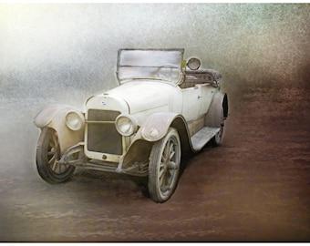 Car, Gatsby era, white convertible