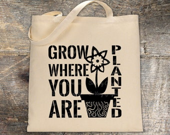 Grow Where You Are Planted | Cutting & Printable File | svg | eps | dxf | png | Vintage Farmhouse | Stencil | Garden | Home Decor | Plants