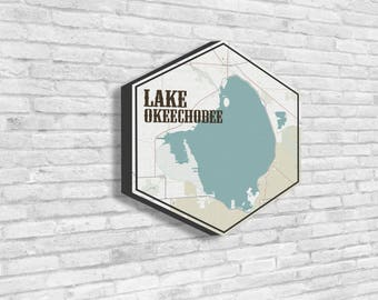Lake okeechobee map Etsy