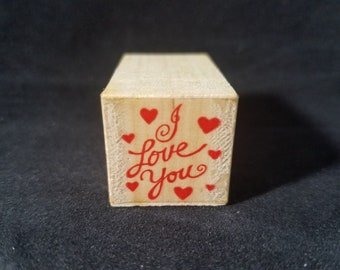 I love you Tiny Love Message  Heart Valentines Day Used Rubber Swamp