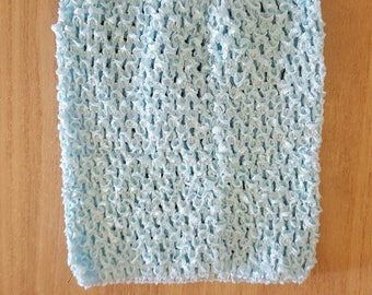 STRAPLESS stretch light blue crochet for creating dress 0-16 month TUTU