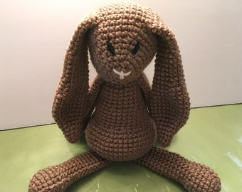 Brown crocheted bunny