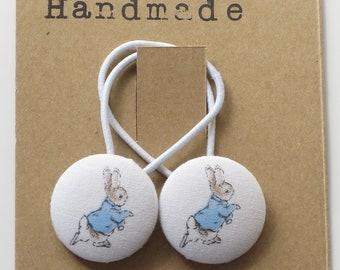 Button Hair Elastics - Peter Rabbit