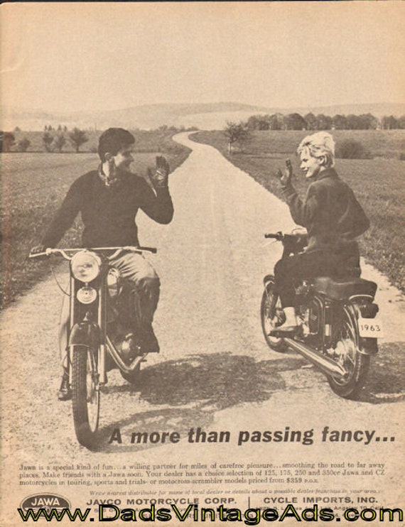 1963 JAWA Javco Motorcycle Corp. Passing Fancy Ad #d64ga18