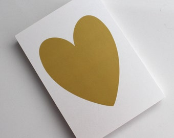 Gold Shimmer Heart Print - 5x7