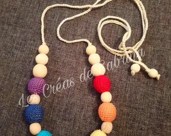 rainbow nursing and Babywearing necklace