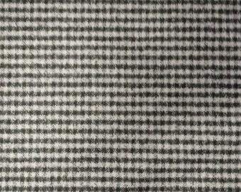 """Black/White Cotton Flannel Fabric 46"""" Wide Per Yard"""