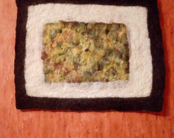 Nunofelting art picture Felt picture Felted art Fiber art Nunofelting art Felting art