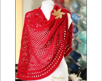 PATTERN - Crochet - Poncho / Cowl / Skirt - Red