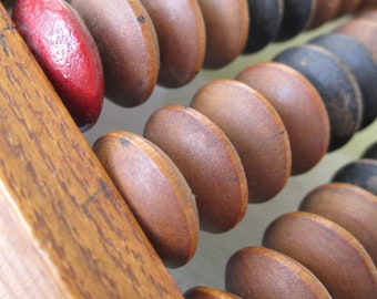 Abacus Vintage Sovietera WoodenAbacus AntiqueAbacus USSR HomeDecor Collectible Nostalgia
