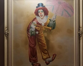 Clown Painting by M. Herman