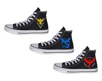 Pokemon GO Teams Shoes. Instinct, Mystic, Valor.
