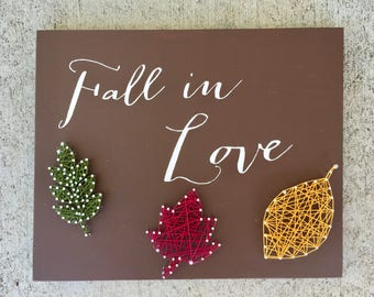 Fall in Love Sign, Fall Decor, Fall Decorations, Fall in Love, Autumn Decor, Autumn Decorations, Fall SIgn, Autumn Sign, Fall Door Decor