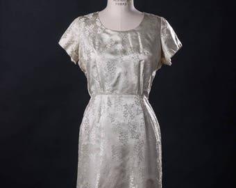 Sweet Brocade 60s Dress
