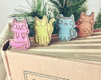 Cat Bookmark - Cat Lover Gift - Cat Paper Clips - Kitty Paper Clips - Kitty Bookmark - Cat bookmarks - Cute cat bookmark - cat paperclips