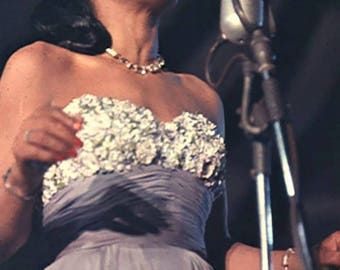 Billie Holiday performing in the late 1940's