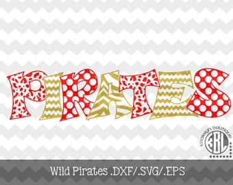 Wild Pirates Files INSTANT DOWNLOAD in dxf/svg/eps for use with programs such as Silhouette Studio and Cricut Design Space